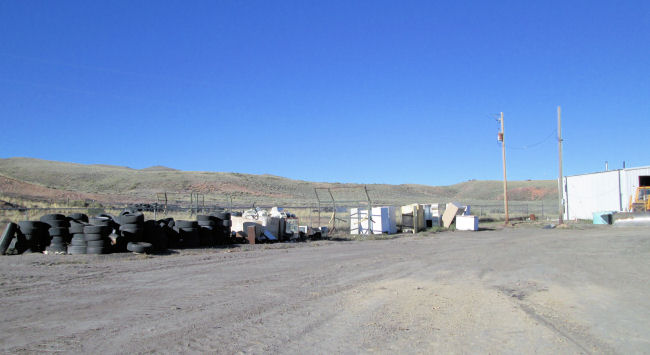 Tires, E-waste, appliances pile at HCJP Landfill near Hanna Wyoming
