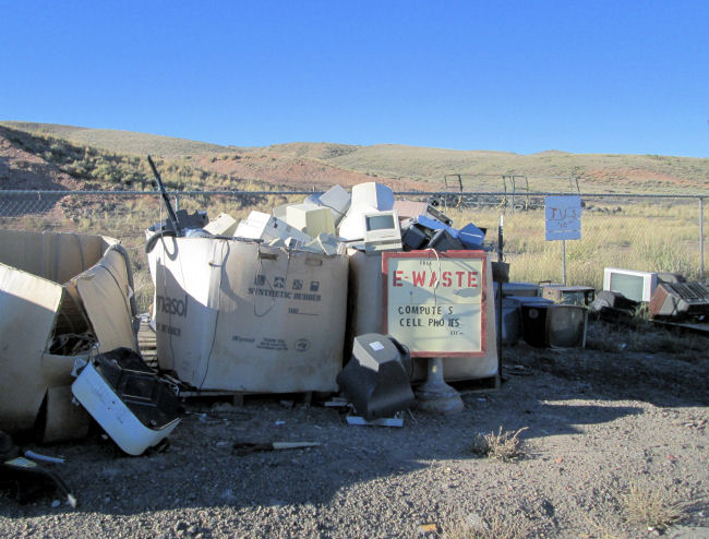 e-waste, TVs at High Country Joint Powers Landfill Hanna Wyoming