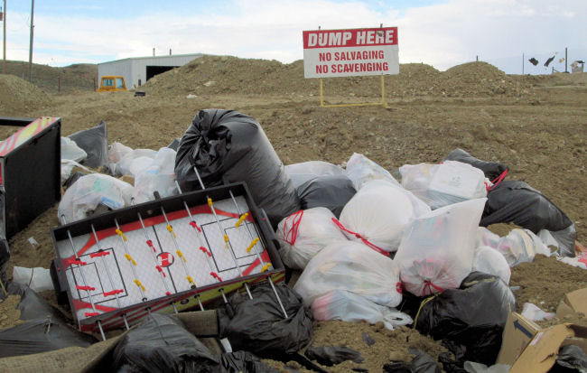 Household waste pile High Country Joint Powers Landfill Hanna Wyoming