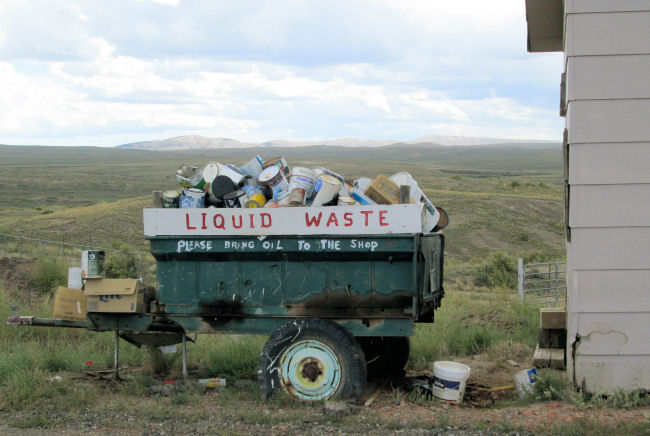 liquid waste trailer High Country Joint Powers Landfill Hanna Wyoming