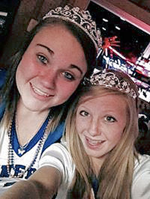 Brittany Dys, Junior Court, and Darby Bowen, Sophomore Court