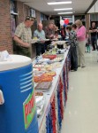 Potluck Dinner at Veterans' celebration by National Honor Society
