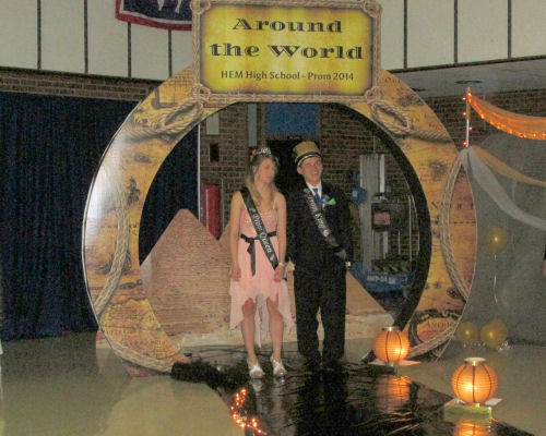 2104 Prom Queen and King Seniors Tabby Smith and Roy Tomkins
