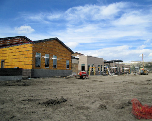 front of new elementary, May 2014