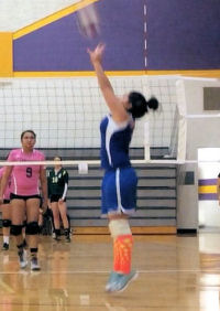 Lady Miners' setter Maggie Johnson
